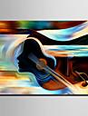 HANDMÅLAD Abstrakt Vertikal, Europeisk Stil Moderna Duk Hang målad oljemålning Hem-dekoration En panel