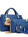 Femei Genți PU Seturi de sac Set de pungi din 4 buc pentru Casual Albastru