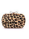 Women\'s Bags Other Leather Type / Suede Evening Bag Fur for Wedding / Event / Party / Formal Leopard / Light Green / Light gray