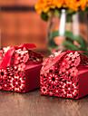 cub de hârtie carte favoriza titular cu panglici favoarea cutii-12 nunti favorizeaza
