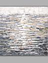 HANDMÅLAD Abstrakt Fyrkantig, Klassisk Moderna Duk Hang målad oljemålning Hem-dekoration En panel
