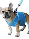 Kat Hond harnassen Lijnen Ademend Verstelbaar / Uitschuifbaar Veiligheid Effen Gaas Rood Blauw Roze