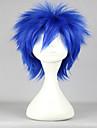 Perruque Synthetique / Perruques de Deguisement Droit Cheveux Synthetiques Bleu Perruque Femme Court Perruque de Cosplay / Perruque