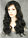 Synthetic Lace Front Wig Wavy Kardashian Style Lace Front Wig Black Natural Black Synthetic Hair Women\'s Natural Hairline Black Wig
