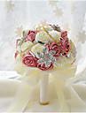 Flori de Nuntă Rotund Trandafiri Buchete Nuntă Petrecere / Seară Poliester Satin Taftă Dantelă Spandex Spumă Flori Uscate Cristal Ștras