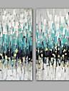 HANDMÅLAD Abstrakt Vertikal, Moderna Realism Duk Hang målad oljemålning Hem-dekoration Två paneler