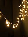 șir de energie lumina solară impermeabil benzi cu LED 10m cupru 100led lampă de sârmă alb cald pentru lumini de exterior Crăciun decorare
