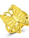 Inel Verighete Auriu 18K de aur Animal Shape Fluture Auriu Bijuterii Pentru Petrecere Zi de Naștere Zilnic Casual 1 buc