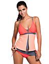 Femei Tankini Femei Bustieră Monocolor Polyester / Spandex