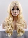 Syntetiska peruker Naturligt vågigt Densitet Utan lock Dam Blond Karneval peruk Halloween Paryk Naturlig peruk Lång Väldigt länge