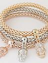 Dam Berlock Armband kostym smycken Minimalistisk Stil Mode Multi lager lyxiga smycken Europeisk Bergkristall Diamantimitation Legering
