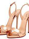 Damă Pantofi PU Primăvară Vară Toamnă Pantof cu Berete Sandale Toc Stilat Vârf deschis Cataramă Pentru Nuntă Casual Rochie Party & Seară