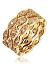 Dame Inel Zirconiu Cubic Placat Auriu 18K de aur Bijuterii Pentru Nuntă Petrecere Zilnic Casual