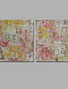 Peinture a l\'huile Hang-peint Peint a la main - Abstrait Classique Moderne Toile