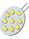 2W 420 lm G4 LED-lampor med G-sockel Tub 9 lysdioder SMD 5730 Kallvit