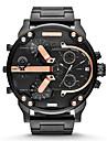 Heren Modieus horloge Militair horloge Kwarts Roestvrij staal Goud 30 m Kalender Analoog Luxe - Grijs Gouden Zwart / Blauw Twee jaar Levensduur Batterij