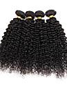 Brasilianskt hår Curly Weave Sexigt Lockigt Hårförlängning av äkta hår 4 delar 4 delar 0.3