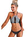 Pentru femei Bikini - Imprimeu, Geometric Halter Cheeky underwire