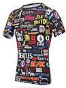 Unisex T-shirt för jogging Kortärmad Snabb tork Andningsfunktion T-shirt Överdelar för Motion & Fitness Racing Basket Fotboll Cykling /