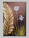 Pictat manual Floral/Botanic Peisaje Abstracte Picturi de ulei,Modern Un Panou Canava Hang-pictate pictură în ulei For Pagina de decorare