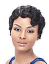 Syntetiska peruker Vågigt Afro Densitet Utan lock Dam Svart Karneval peruk Halloween Paryk Naturlig peruk Korta Syntetiskt hår