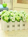 1 ramură Mătase Plastic Trandafiri Față de masă flori Flori artificiale