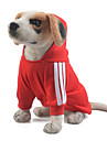 Cachorro Camisola com Capuz Macacao Roupas para Caes Solido Vermelho Azul Rosa claro Algodao Ocasioes Especiais Para Primavera & Outono Inverno Homens Mulheres Mantenha Quente Esportes