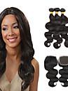 Brasilianskt hår buntar Obehandlad hår Kroppsvågor Hårförlängning av äkta hår 4 delar Snörning av snörning Heta Försäljning Human Hår