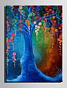 Hang målad oljemålning HANDMÅLAD - Blommig / Botanisk Europeisk Stil Moderna Duk