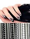 10 Autocollant d\'art de clou Autocollant dentelle Bijoux pour ongles Autocollants 3D pour ongles Punk Maquillage cosmetiqueNail Art