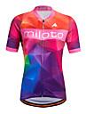 Miloto Γυναικεία Κοντομάνικο Φανέλα ποδηλασίας Ριγέ Κλασσικά Μεγάλα Μεγέθη Ποδήλατο Πουκάμισο Φούτερ Αθλητική μπλούζα, Αναπνέει Γρήγορο Στέγνωμα Αντανακλαστικές Λωρίδες 100% Πολυέστερ / Ελαστικό