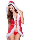 Santa Suits Burlesque / Κλόουν Στολές Στολές Ηρώων Γυναικεία Χριστούγεννα Halloween Απόκριες Γιορτές / Διακοπές Κοστούμια Halloween Στολές Κόκκινο Συνδυασμός Χρωμάτων Σέξι Στολές