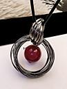 Pentru femei Imitație de Perle Perle Coliere cu Pandativ - Design Circular Modă European Circle Shape Coliere Pentru Zilnic Casual