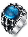 Bărbați Inel de declarație / Inel - Oțel titan Vintage, Modă 7 / 8 / 9 Negru / Rosu / Albastru Pentru Zilnic / Casual