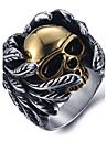 Bărbați Inele Afirmatoare Inel La modă Oțel titan Skull shape Bijuterii Pentru Halloween Zilnic Casual