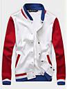 Bărbați Stand Jachetă Zilnice De Atletism 16 Ani Școală Clasic & Fără Vârstă Modern,Dungi Manșon Lung Primăvară Toamnă-Regular N/A