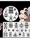 4 pcs Stamper & Scraper Stempling kit Stempling plade Skabelon Negle kunst Manicure Pedicure Mode Daglig / Silikone / Plast / Stempling Plate / Stål