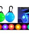 Chat Chien Lampe LED piles comprises Couleur Pleine Plastique Bleu Rose Transparente