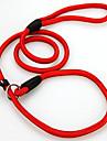 Chien Laisses Ajustable / Reglable Couleur Pleine Nylon Noir Rouge Bleu