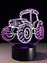 Tractor colorat 1buc viziune stereo a condus lampă de lumină lampă 3d colorat gradient de acril viziune de lumină lampă de noapte