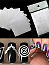 12 pcs Mode Diecut Manicure Pochoir Quotidien