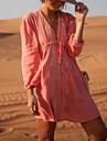 Dame Bumbac Șifon Imprimeu Bustieră Șal Costume de Baie Floral Dantelat Roz