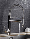 Kitchen faucet - Contemporary Art Deco / Retro Modern Nickel Brushed Pull-out / Pull-down Vessel
