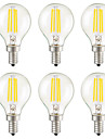 KWB 6pcs 3W 400 lm E14 E26/E27 E12 LED-glödlampor G45 4 lysdioder COB Bimbar Dekorativ Varmvit AC 110-130V AC 220-240V