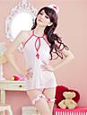 Pentru femei Ultra Sexy Uniforme & Cheongsams Costume Pijamale Organza Peteci Alb