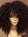 Ljudska kosa Perika pune čipke bez ljepila Full Lace Perika stil Brazilska kosa Kinky Curly Perika 130% Gustoća kose s dječjom kosom Prirodna linija za kosu Afro-američka perika 100% rađeno rukom Žene