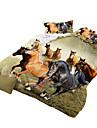 Seturi Duvet Cover Noutate 4 Piese Imprimeu reactiv 4pcs (1 Plapumă Duvet, 1 Cearceaf Plat, 2 Shams)