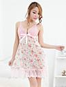 Pentru femei Normal Costume Pijamale, Mediu Dantelă Organza - Cu Bretele Floral Roz
