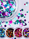 12pcs Glitter & Poudre / Paljetter Glitters / Mode Dagligen Nail Art Design