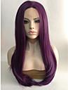 Парики из искусственных волос Естественные волны Фиолетовый Фиолетовый Искусственные волосы Фиолетовый Парик Лента спереди